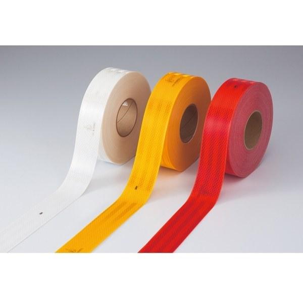 高輝度反射テープ 55mm幅×50m カラー:黄 (390013)