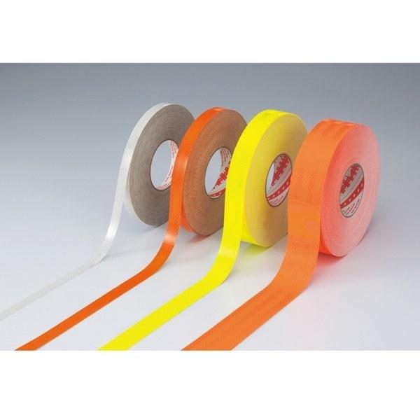 高輝度反射テープ 50mm幅×45m カラー:白 (390026)