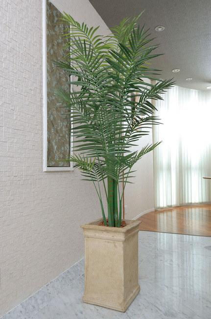 【送料無料♪】トロピカルアレカパーム (人工観葉植物) 高さ200cm 光触媒 (124B550) 【人工観葉植物・造花・フェイクグリーン/フロア(鉢型)用 人工観葉植物(光触媒 )】