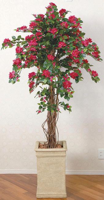 【送料無料♪】ブーゲンビリア (人工観葉植物) 高さ180cm 光触媒 (126A620) 【人工観葉植物・造花・フェイクグリーン/フロア(鉢型)用 人工観葉植物(光触媒 )】