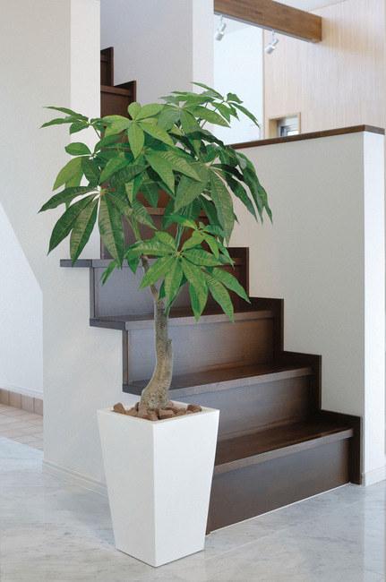 【送料無料♪】ロイヤルパキラ (人工観葉植物) 高さ135cm 光触媒 (129A380) 【人工観葉植物・造花・フェイクグリーン/フロア(鉢型)用 人工観葉植物(光触媒 )】