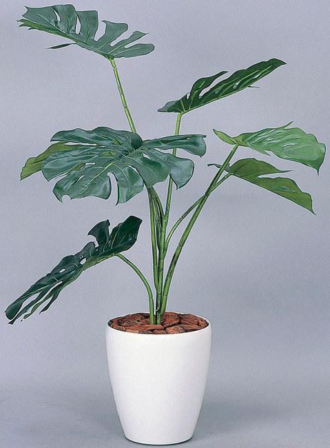 モンステラ (人工観葉植物) 高さ90cm 光触媒 (213A90) 【人工観葉植物・造花・フェイクグリーン/フロア(鉢型)用 人工観葉植物(光触媒 )】
