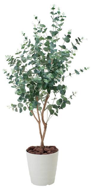 【送料無料♪】ユーカリ (人工観葉植物) 高さ125cm 光触媒 (370A180) 【人工観葉植物・造花・フェイクグリーン/フロア(鉢型)用 人工観葉植物(光触媒 )】