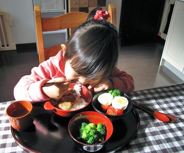 ベビー食器セットの使用例