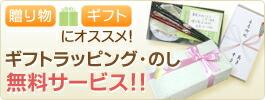 ギフトラッピング・のし無料サービス!