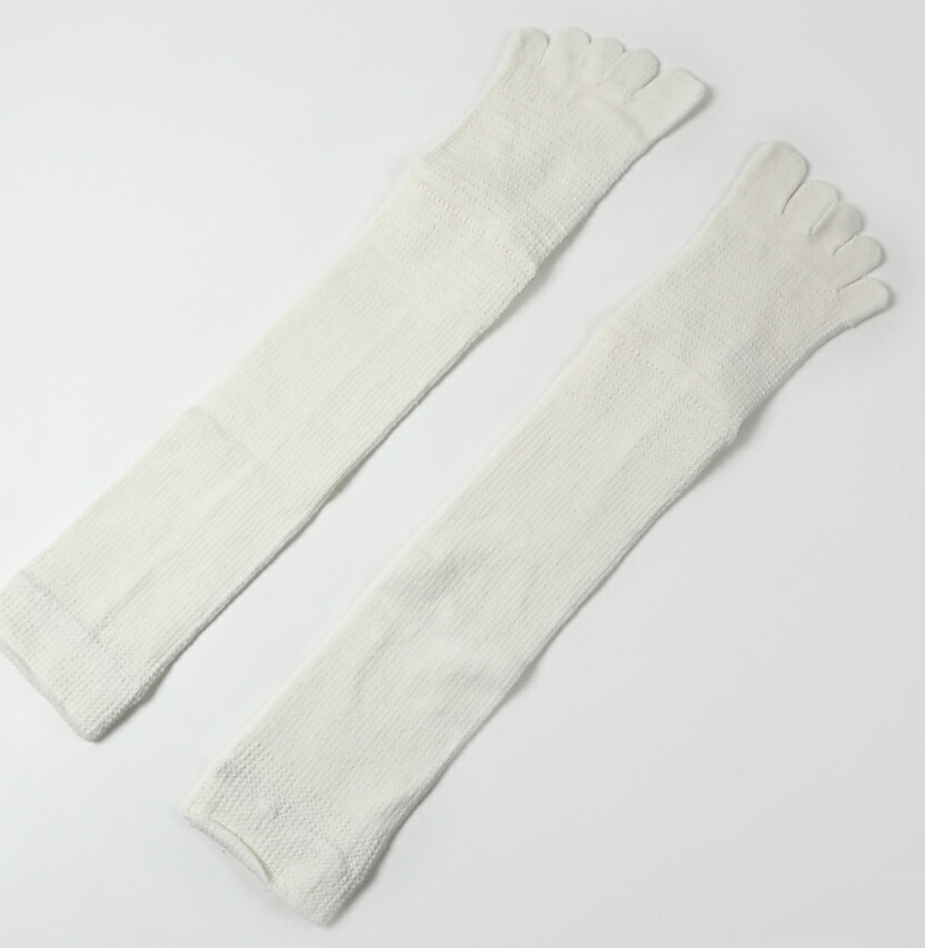 絹木綿5本ハイソックス