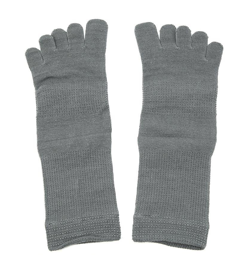 絹木綿5本指靴下