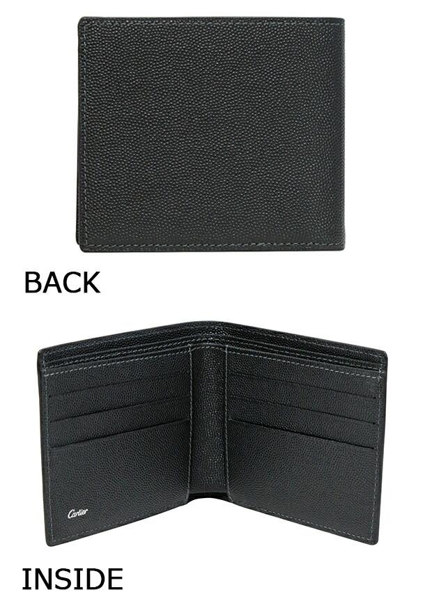 カルティエ_サントス_ONYX(ブラック)_2つ折り財布(カード)_L3000773