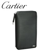 カルティエ 多機能財布 ブラック/ボルドー ルイ カルティエ L3001404