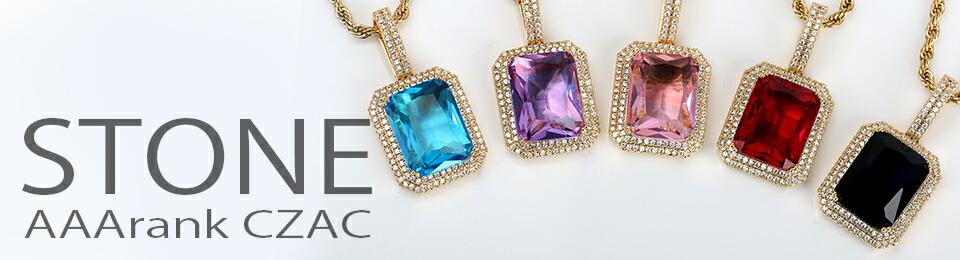大粒 人工 ダイヤモンド キラキラ 一粒 ビッグストーン ネックレス レディース メンズ