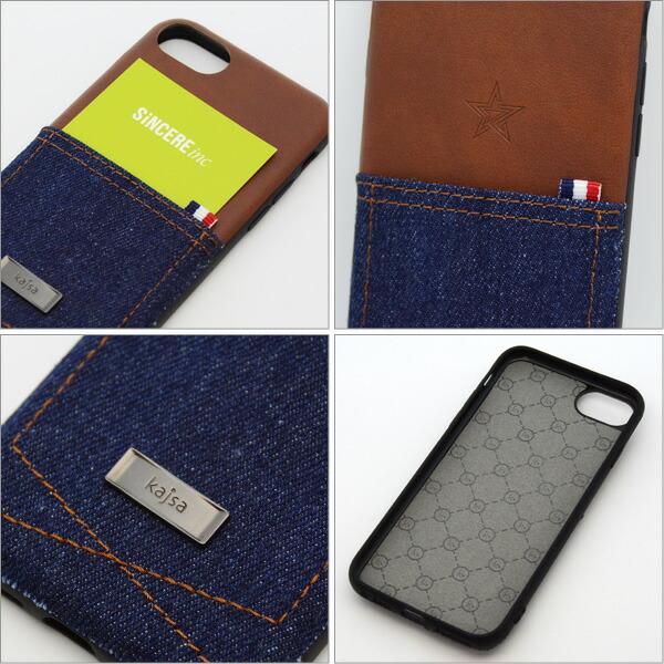Kajsa カイサ iPhone8/7/6S/6 Denim collection デニムコレクション pocket back case ポケットバックケース