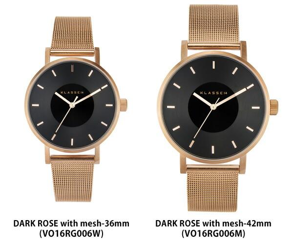 VOLARE DARKROSE メッシュ 36mm 42mm レディース メンズ  腕時計