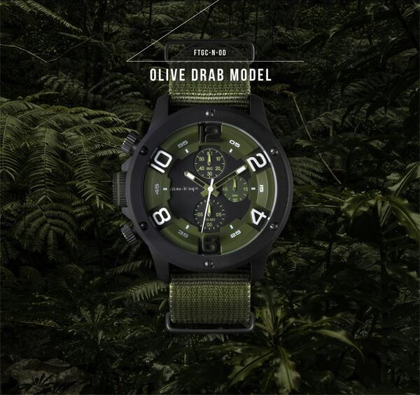 Franc Temps/フランテンプス Gavarnie NATO/ガヴァルニ NATO メンズ腕時計 腕時計 腕時計