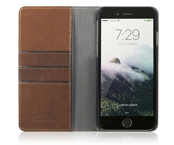 Nomad ノマド Horweenレザー iPhone7Plusケース レザーフォリオケース 財布