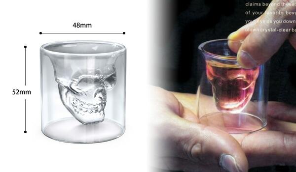 DOOMED SKULL GLASS  ヘッドショット スカルグラス 0.9oz(27ml)グラス 4個セット