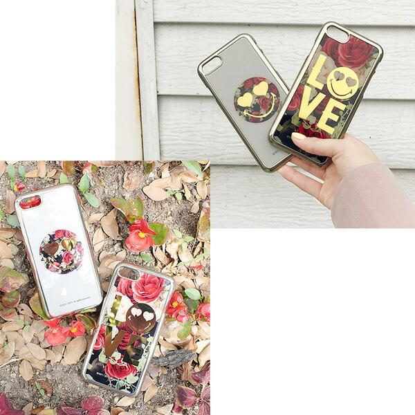 iPhone7ケース スマイリーミラー 鏡面 スマイル ニコちゃん SMILEY