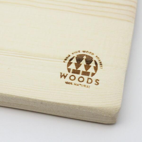 WOODS CUTTING BOARD S カッティングボード Sサイズ 1G-332 おしゃれ パインウッド 木製