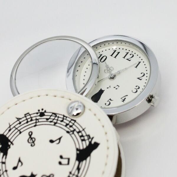 Lead Watch おんぷネコ LW056 ルーペ付時計 レディース