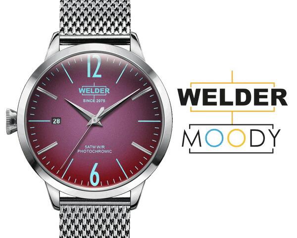 WELDER MOODY/ウェルダー ムーディー 38mm  偏光ガラス WRC618 メッシュベルト