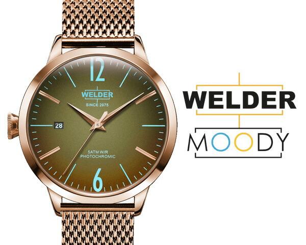 腕時計 WELDER MOODY ウェルダー ムーディー WRC625 38mm 偏光ガラス メッシュベルト 三針