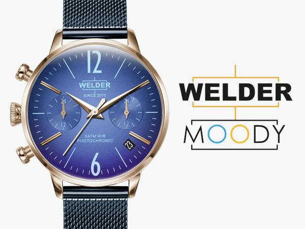 WELDER MOODY/ウェルダー ムーディー デュアルタイム 36mm 偏光ガラス メッシュベルト 三針 WWRC710 WWRC711 WWRC717