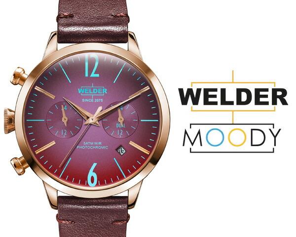 WELDER MOODY/ウェルダー ムーディー デュアルタイム 38mm 偏光ガラス 三針 WWRC100/WWRC103/WWRC106/WWRC112