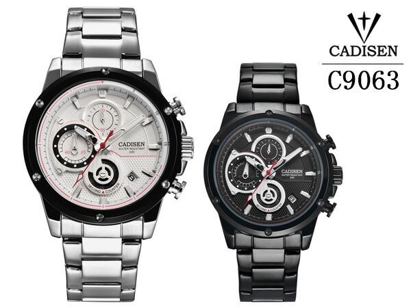 CADISEN メンズ腕時計 クロノグラフ C9063