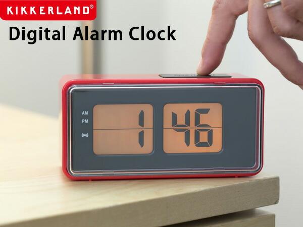 KIKKERLAND Digital Alarm Clock デジタルアラームクロック
