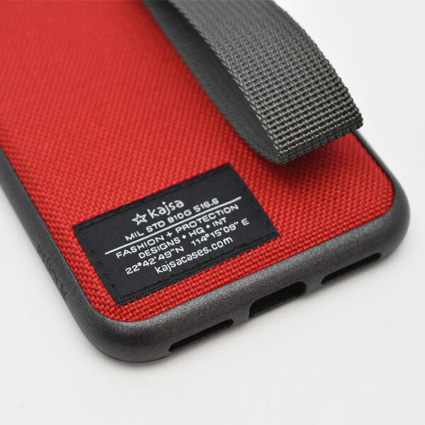 Kajsa Military collection straps back case for iPhone X/XS ミリタリーコレクションバックケース