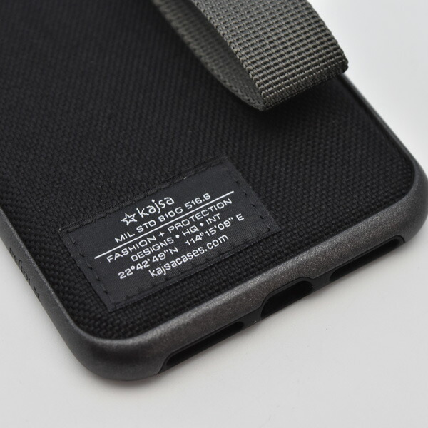 Kajsa Military collection straps back case for iPhone XS Maxミリタリーコレクションバックケース
