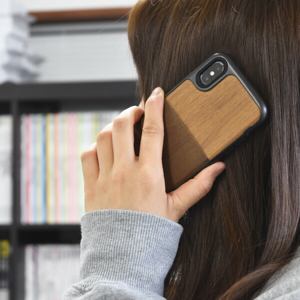 Kajsa  ウッドポケットバックケース wood pocket backcast for iPhoneX IphoneXS