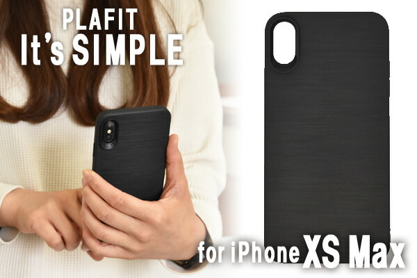 PLAFIT It's SIMPLE iPhoneXSMax プラフィット クリアケース