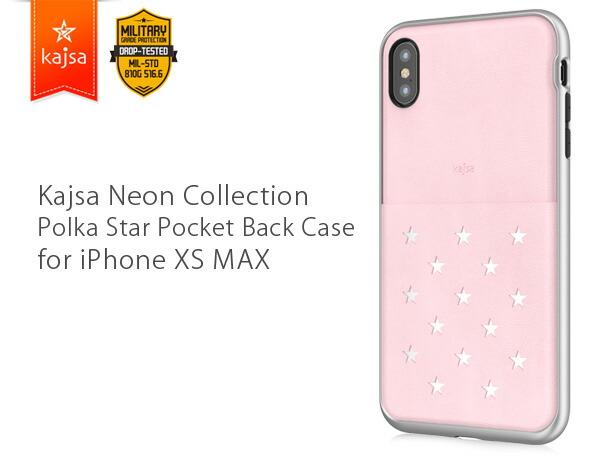 Kajsa カイサ Polka star pocket Back case ポルカスターポケットバックケース iPhoneXS Max