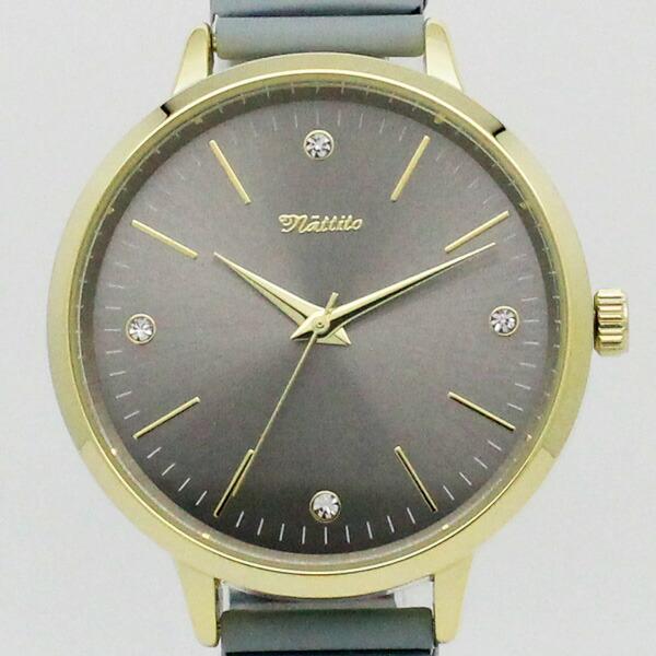 Nattito クレープ QKS146 腕時計 レディース