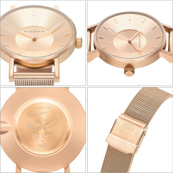VOLARE SILVER WITH MESH BAND 腕時計 ステンレス メッシュベルト VO14SR002W レディース