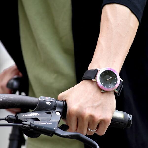 KLASSE14 Volare taras rainbow ラバーベルト 44mm メンズ 腕時計