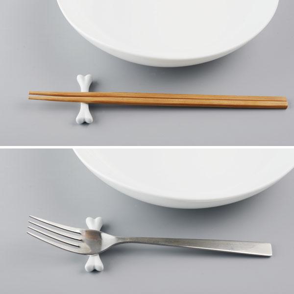 骨の箸置き 磁器 キッチン雑貨