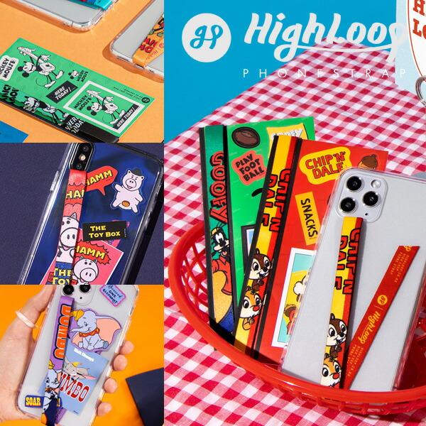 ハイループ フォンストラップ ディズニー HighLoop Disney iPhone android 落下防止 バンド ベルト 韓国