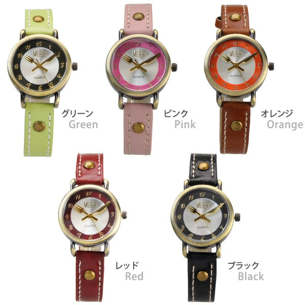 【Mix/ミックス】フォーク&ナイフ針レディース腕時計 EA-151