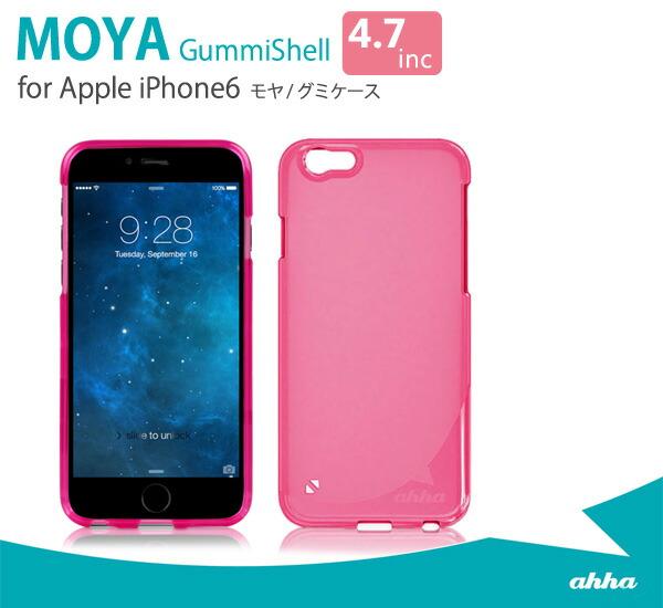 【ahha/アハ】iPhone6 Plus ケース クリア ソフト MOYA グミケース 5.5inc