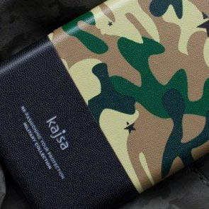 【Kajsa/カイサ】MILITARY COLLECTION folio case for iPhone6 Plus(5.5inch)迷彩 ミリタリー