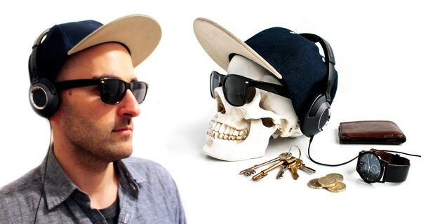 【SUCK UK/サックユーケー】Skull Tidy/スカルタイディー スカルヘッドトレイ 小物入れ メガネ置き