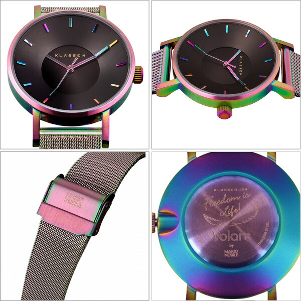 VOLARE RAINBOW メッシュ 36mm レディース 腕時計