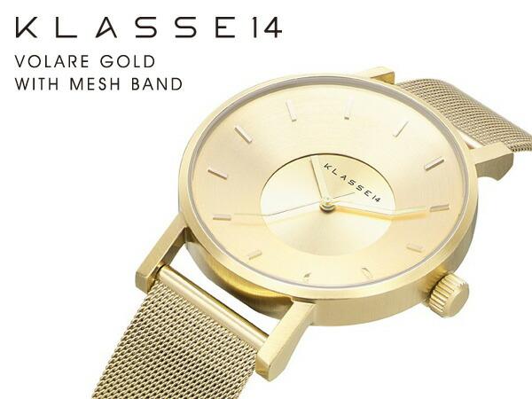 VOLARE GOLD WITH MESH BAND 腕時計 ステンレス メッシュベルト KL005