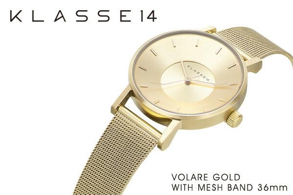 VOLARE WITH MESH BAND 腕時計 ステンレス メッシュベルト レディース