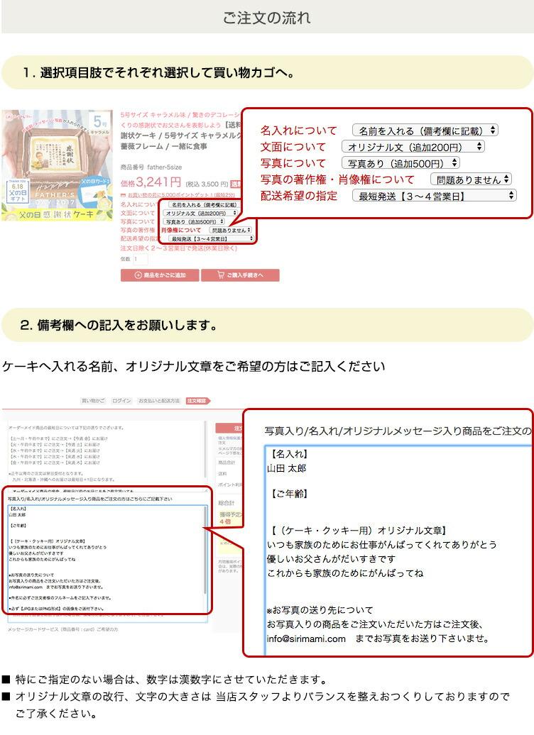 御中元 熨斗ケーキ 縦型 7号サイズ 生クリーム味