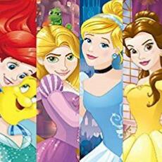 ディズニープリンセス  ビーチタオル バスタオル Disney Princess Beach Towel  アリエル ラプンツェル シンデレラ ベル 140cm x 70cm 6172