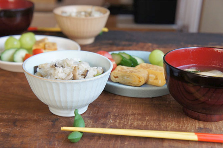 Bread and Rice (パンとごはんと...) 美濃焼 竹隆窯 ご飯茶碗 菱沼未央さん カラーバリエーション全4色