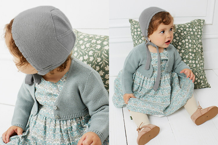 condor Garter stitch bonnet ガーター編みボネット