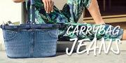 キャリーバッグジーンズ